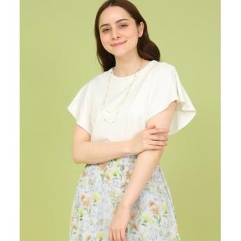 アナトリエ シルスムースフレアスリーブTシャツ レディース オフホワイト(003) 38(M) 【anatelier】