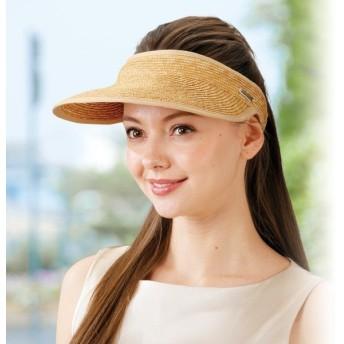 極上ストロー帽子(サンバイザー) / 50代 60代 70代 80代 ファッション シニア ミセス レディース 婦人