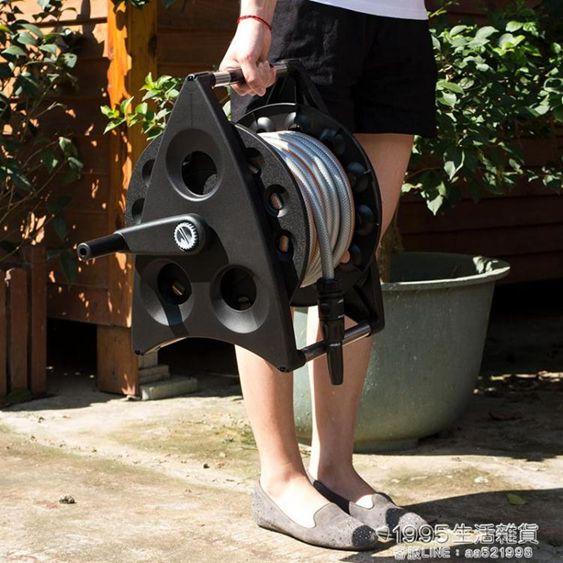 水管收納架家用花園軟管自動收管捲管器澆花洗車水管收納手搖盤管繞管水車架