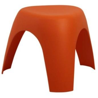 家具通販/インテリア 雑貨 おしゃれ/ 像脚 スツール 軽い、強い、コンパクトで、可愛い 柳宗理 いす 椅子 三本脚 踏み台 /オレンジ