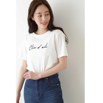 NATURAL BEAUTY BASIC/ナチュラルビューティーベーシック |with CanCam 6月号掲載|ウインク ロゴTシャツ半袖◆ オフベース2 M