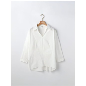miroir de ensuite 【web別注】布帛ドッキングバックコンシャスブラウス シャツ・ブラウス,オフホワイト