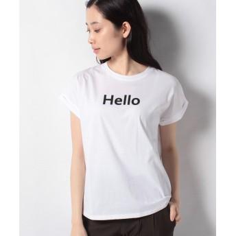 【20%OFF】 インタープラネット HelloロールアップTシャツ レディース オフホワイト 002 【INTERPLANET】 【セール開催中】