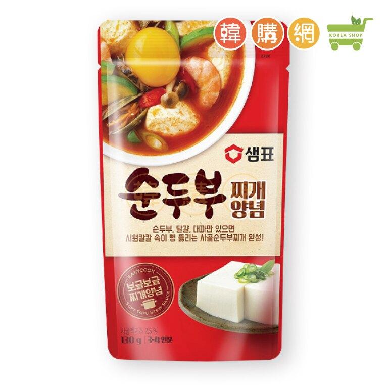 韓國膳府韓式辣豆腐湯底130g【韓購網】[AA00107]