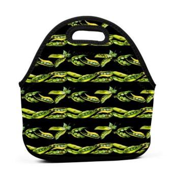 Pea Wild Vegetables 保温再利用可能おポータブル弁当箱ランチトートバッグ食事袋子供大人ユニセックス