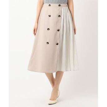 【any SiS:スカート】【WEB限定カラー】ストライプコンビトレンチ スカート