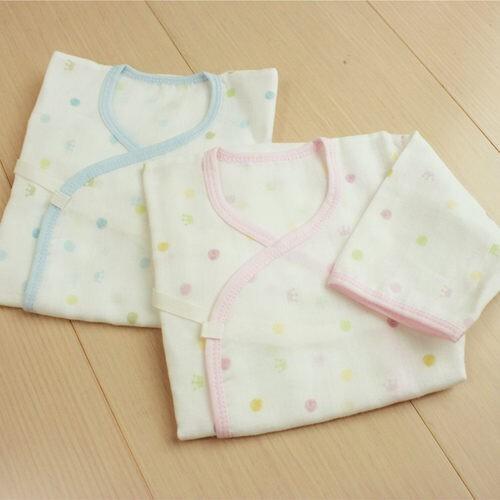 gmp baby 舒適圓點純棉紗布肚衣~2件組 - 藍