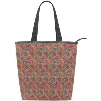 KENADVIトートバッグ 最高級 軽量 キャンバス レディース ハンドバッグ 通勤 通学 旅行バッグ、アーティスティックスペクトルカラフルパーツフィッシュスケールフィール、スタイリッシュ グラフィックス 収納袋