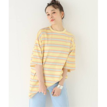 JOURNAL STANDARD relume 【DROLE DE MONSIEUR / ドロールドムッシュ】Vintage Striped Tee Lo:Tシャツ ピンク M