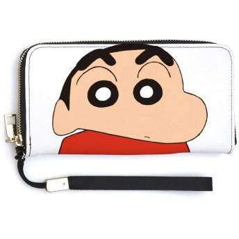 クレヨンしんちゃん 長財布 コインパース カード収納 小物入れ 小銭入れ 化粧箱 クラッチバッグ 大容量 収納袋 薄型