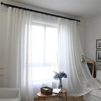 カーテン レース レースカーテン 遮像 目隠し カーテン 北欧 カーテン サイズ ホワイト 仕切りカーテン 幅150丈198cm 1枚