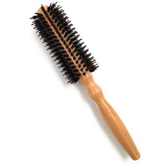 Orienex ロールブラシ ヘアブラシ くし 豚毛コーム カール 巻き髪 耐熱仕様 ブロー ストレート(S)