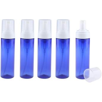 石鹸ディスペンサー ポンプボトル メイクアップボトル ローション 容器 ブルー 3サイズ選べ - 200ミリリットル