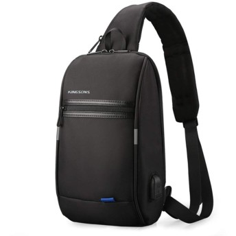 Ledback 斜め掛けバッグ メンズ 防水 USBポート ボディバッグ 肩掛けバッグ ビジネス バッグ 軽量 防水 通勤 ワンショルダー 大容量 A4ファイル 13.3インチPC収納可