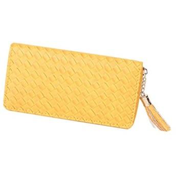 Mesh Walletメッシュ長財布(海外直送) (Yellow)