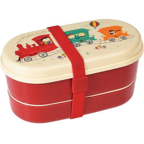 《Rex LONDON》餐具+雙層兒童便當盒(火車)