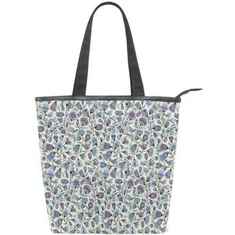 KENADVIトートバッグ 最高級 軽量 キャンバス レディース ハンドバッグ 通勤 通学 旅行バッグ、フェミニンな自然のパターン鳥花葉、スタイリッシュ グラフィックス 収納袋