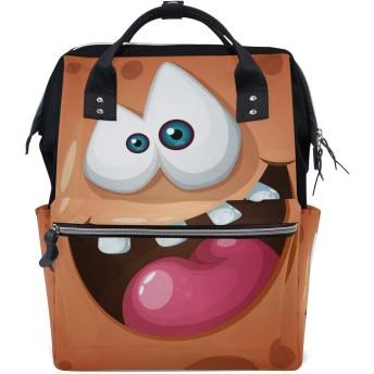 かわいいブラウンゴーストモンスター旅行 バックパック 大おむつ オムツ バッグ ラップトップ バックパックレディース メンズ 用