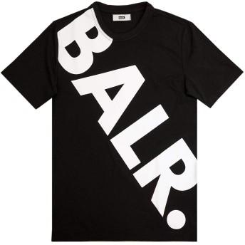 [ボーラー]BALR 半袖Tシャツ 10456 TILTED LOGO T-SHIRT メンズ BLACK size L [並行輸入品]