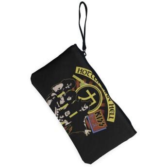 レディース キャンバス 小銭入れ Kiss Hotter Then Hell がま口 コイン財布 カードケース ミニ 小さい ウォレット 多機能 大容量 人気 可愛い 男女兼用 短財布 キーケース 携帯用 キー パッケージ