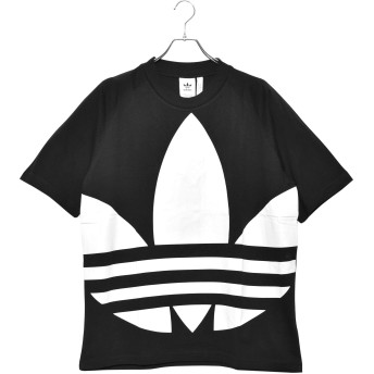 [アディダス オリジナルス]ADIDAS ORIGINALS 半袖Tシャツ ビッグ トレフォイル Tシャツ FM9903 FM9904 FM9906 メンズ 02.ブラック M [並行輸入品]