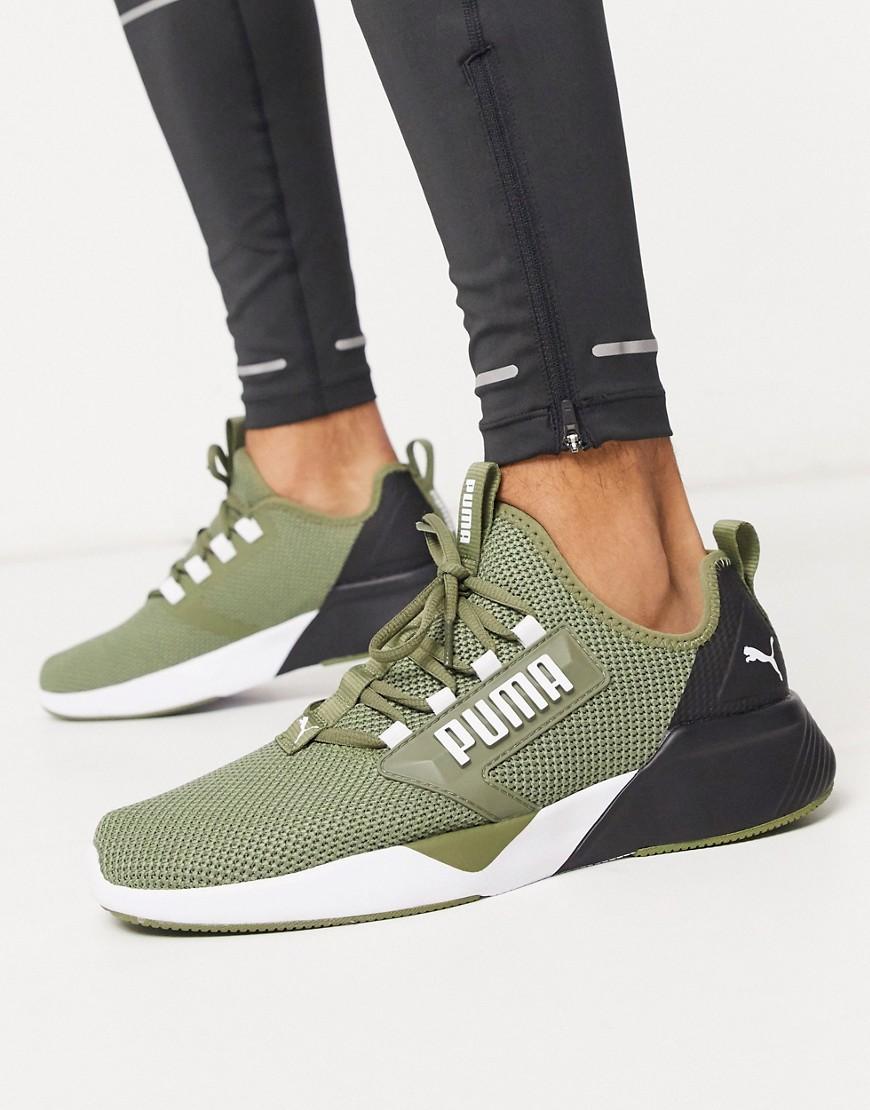 Puma Running Retaliate trainers in khaki-Green