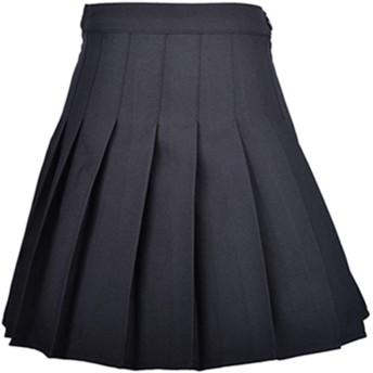 Smilice 上品プリーツスカート レギンス付き 夏のハイウェストプリーツスカート 制服スカート