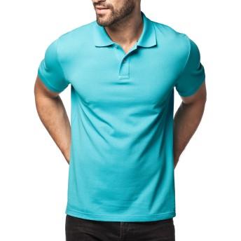 (ラパサ) Lapasa ポロシャツ メンズシャツ 半袖 無地 超長綿素材 カノコ カジュアル トップス Tシャツ ゴルフシャツ カットソー アウトドア シンプル M19