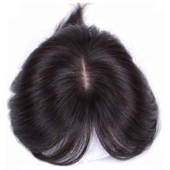 イメヘア ウィッグ 部分ウィッグ ヘアピース トップカバー ポイントウィッグ 白髪隠れ wig 人毛 総手植え 超リアル人工皮膚 自然黒 レディース 8cm13cm