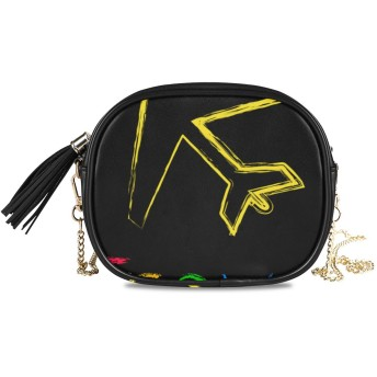 KAPANOU レディース チェーンバッグ,旅行イラスト,ミニファッションかわいいデザインショルダーバッグパーソナライズされたカスタムの異なるスタイルの色