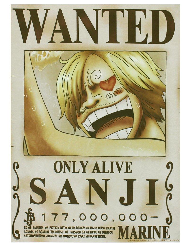 One Piece ワンピース 壁紙 42cm 29 7cm A3サイズ 手配書サンジ 新