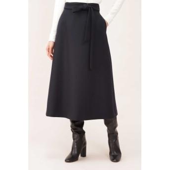 NATURAL BEAUTY(ナチュラルビューティー)/二重織ミルドAラインスカート