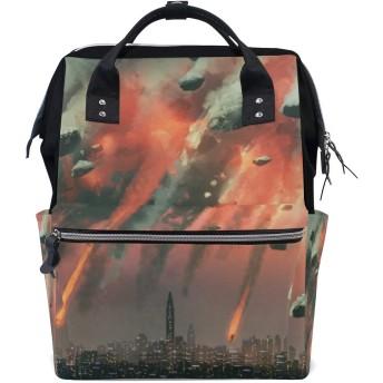 MIMUTI バックパック シフィの隕石が上空を爆発 男女兼用 通学 通勤 旅行 スポーツ バッグ