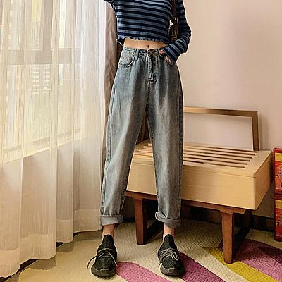 牛仔褲寬管褲小腳褲中大尺碼M-4XL11261哈倫褲女2020年春季梨形身材穿搭大碼牛仔褲女1F051.依品國際