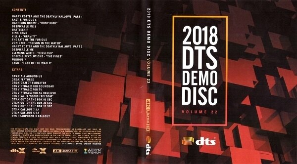 【停看聽音響唱片】【BD】2018 DTS Demo Disc Vol.22『4K』