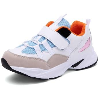 [Alikefashion] 女の子 男の子 スニーカー キッズシューズ 子供 運動靴 ランニング スポーツ 軽量 通気 防滑 ジュニア カジュアル 通園通学
