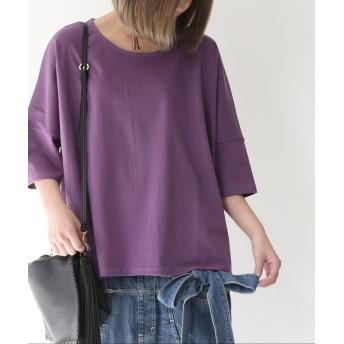 オシャレウォーカー 『nOrゆるっとシンプルTシャツ』 レディース パープル フリーサイズ 【osharewalker】
