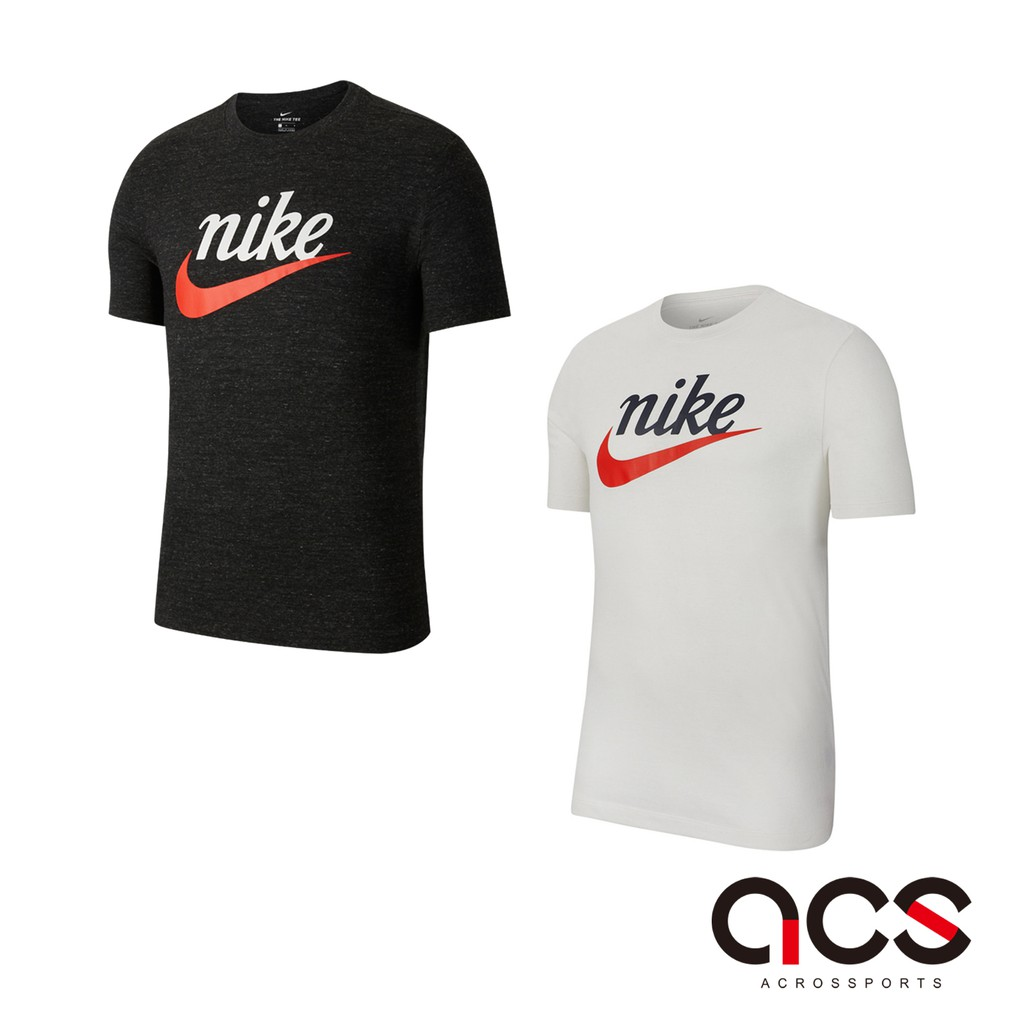 Nike 短袖T恤 NSW Heritage Tee 男款 基本款 大Logo 黑/白 任選 【ACS】