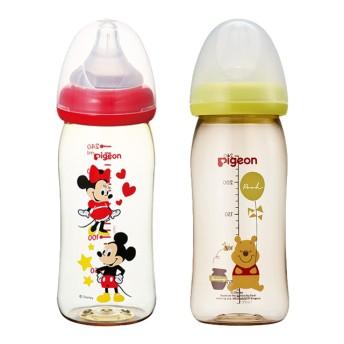 貝親 寬口母乳實感PPSU奶瓶240ml/經典迪士尼