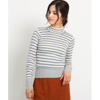 Dessin(Ladies)(デッサン(レディース)) 【Sサイズ・Lサイズあり 洗える】シルケット毛混 ハイネックTシャツ