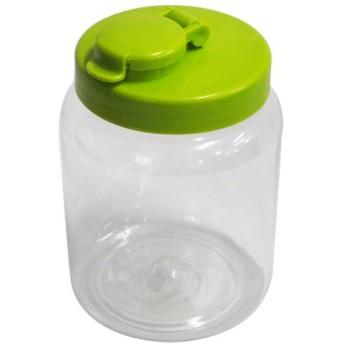 保存瓶 液体 密封びん 丸型 グリーン 1.0L