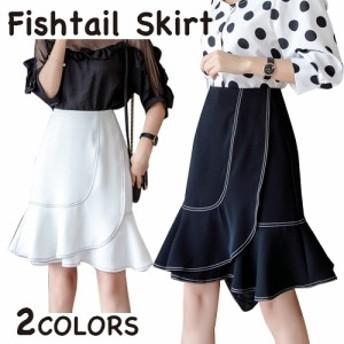 スカート ショート丈 ミニスカート シンプル レディース カジュアル かわいい ガーリー ブラック ホワイト
