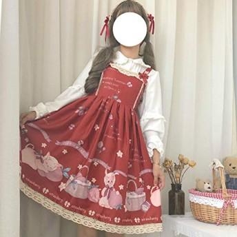 MengC 夏 JSK 甘いロリータスリップドレスフリルロリータケーキスリングファルバラドレスかわいい rebbit ドレスとブラウス