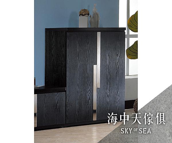{{ 海中天休閒傢俱廣場 }} G-25 摩登時尚 鞋櫃系列 762-2 艾克2.7尺黑色二門鞋櫃