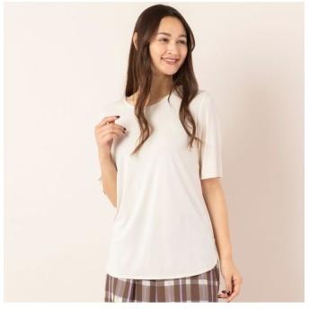 PISANO/ピサーノ ドライスムース・クルーネックTシャツ[セットアップ対応] ライトベージュ LL