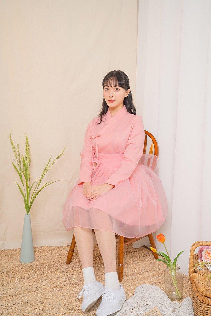 【心跳事】基本款生活韓服-淡粉紅上衣