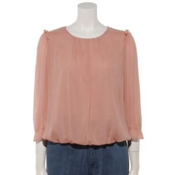 50%OFF Rose Tiara (ローズティアラ) バルーン裾シフォンブラウス ピンク