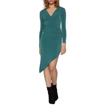 [BCBジェネレーション] レディース ワンピース Asymmetrical Ruched Bodycon Dress [並行輸入品]