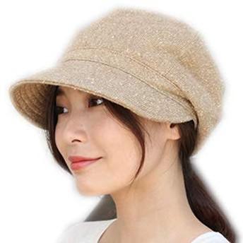 [ドリームハッツ] 帽子 レディース キャスケット 大きめ 冬 UV 紫外線 XLサイズ(63cm) ベージュ