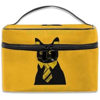 人 猫 化粧ポーチ メイクポーチ コスメバッグ 収納 雑貨大容量 小物入れ 旅行用